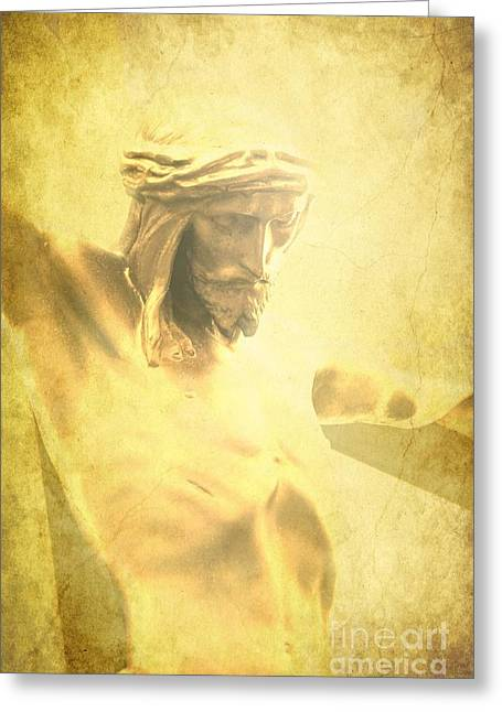 Sophie Vigneault Greeting Cards - Crucifixion Greeting Card by Sophie Vigneault