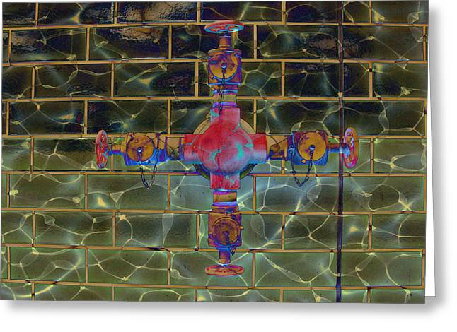 Mj Greeting Cards - Cruciform the Second Greeting Card by MJ Olsen
