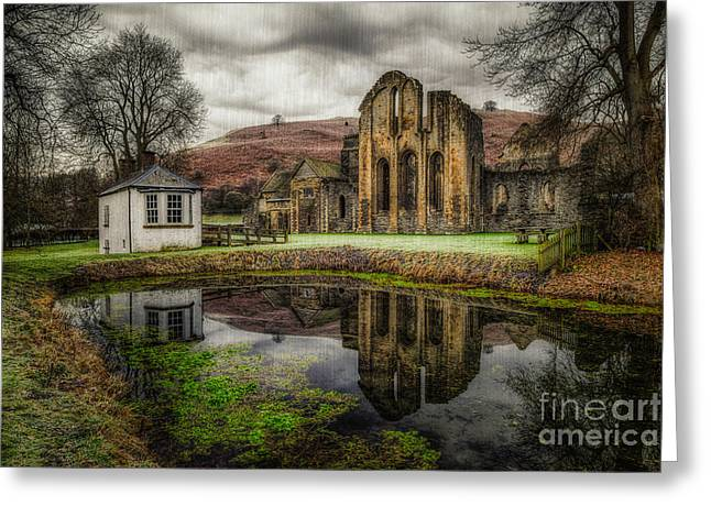 Crucis Abbey Greeting Card by Adrian Evans