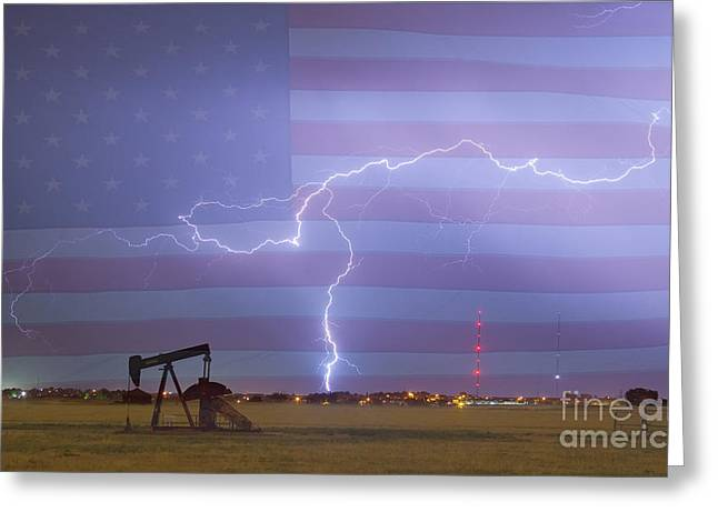 Crude Oil And Natural Gas Striking Across America Greeting Card by James BO  Insogna