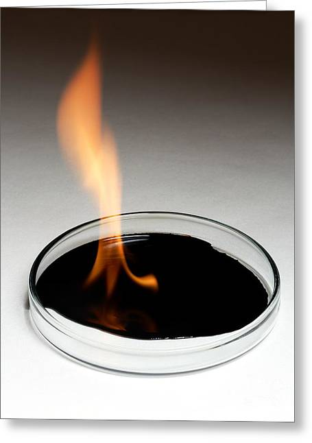 Crude Oil Greeting Cards - Crude Oil Burning Greeting Card by Victor De Schwanberg