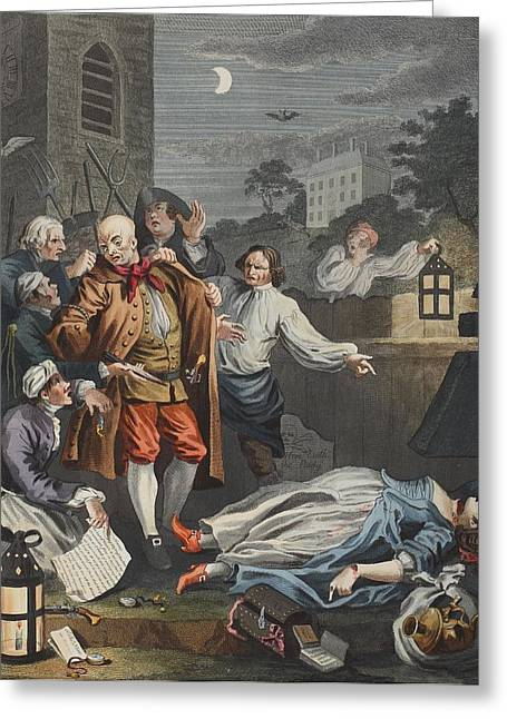 Nero Greeting Cards - Cruelty In Perfection, From The Four Greeting Card by William Hogarth