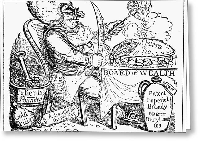 Cruikshank Greeting Cards - Cruikshank: Cholera Pie Greeting Card by Granger
