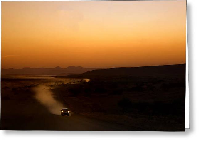 Gravel Road Greeting Cards - Cruise control.. Greeting Card by A Rey
