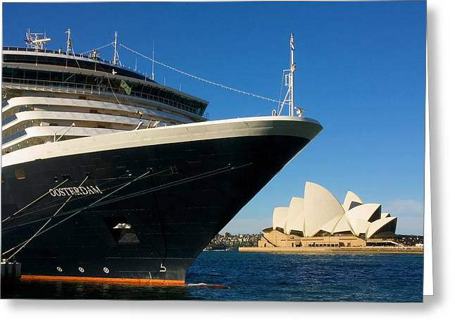 Docked Boat Greeting Cards - Cruise into Sydney Greeting Card by Stuart Litoff