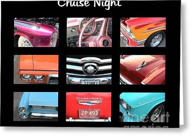 Steering Greeting Cards - Cruise Night Greeting Card by Nancy Aikins