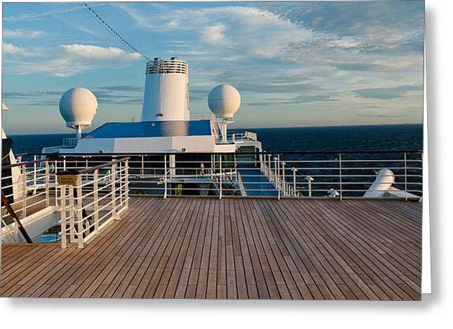 Cruise Ship Deck, Bruges, West Greeting Card by Panoramic Images