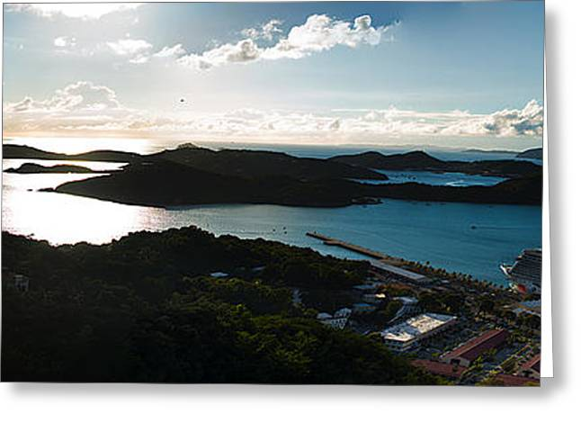 Charlotte Amalie Photographs Greeting Cards - Cruise Ship Docked Greeting Card by Camille Lopez