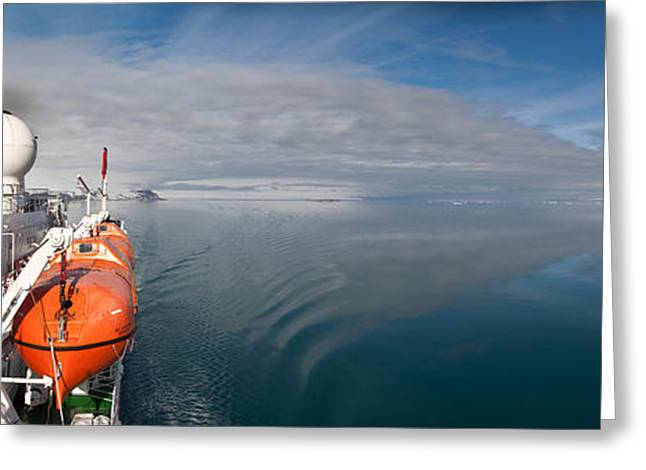 Cruise Ship, Ms Expedition, Hinlopen Greeting Card by Panoramic Images