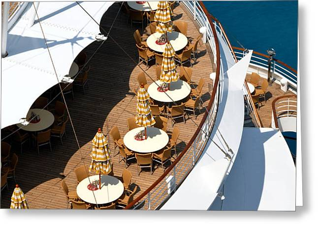 Cruise Ship Symmetry Greeting Card by Amy Cicconi