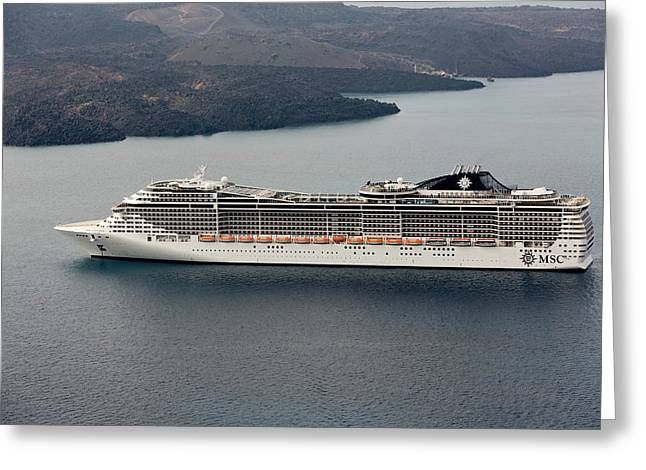 Cruise Ship Greeting Card by Wladimir Bulgar