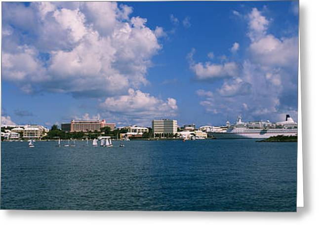 Cruise Ships Docked At A Harbor Greeting Card by Panoramic Images