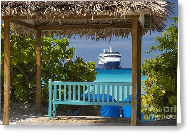Half Moon Cay Greeting Cards - Cruise View - Bahamas Greeting Card by Brian Jannsen