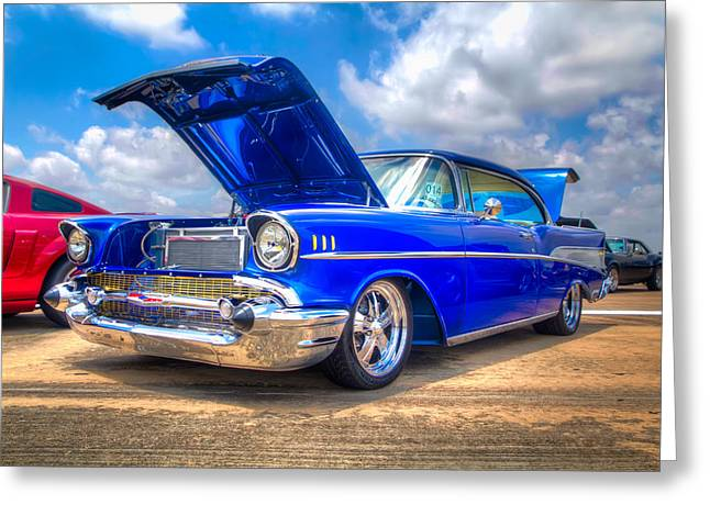 Car Photography Greeting Cards - Cruisin in Blue Greeting Card by Tim Stanley