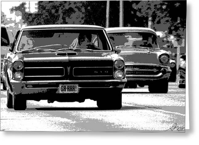Detroit Tigers Digital Greeting Cards - Cruisin Woodward Greeting Card by Gordon Dean II