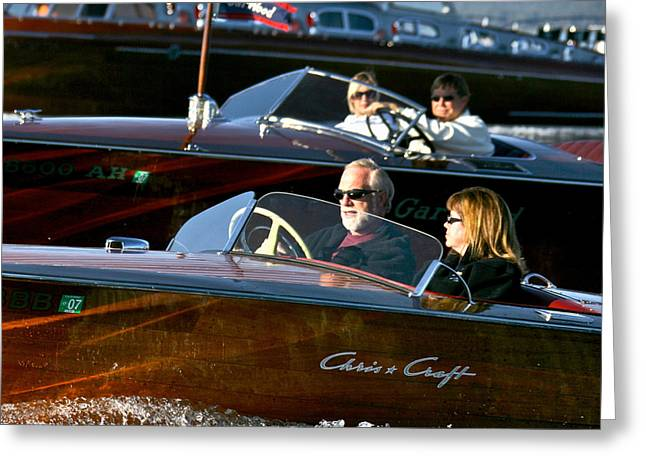 Boat Cruise Greeting Cards - Cruising Friends Greeting Card by Steven Lapkin