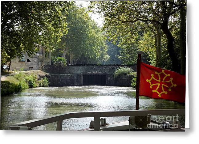 South Of France Greeting Cards - Cruising le Canal du Midi Greeting Card by France  Art