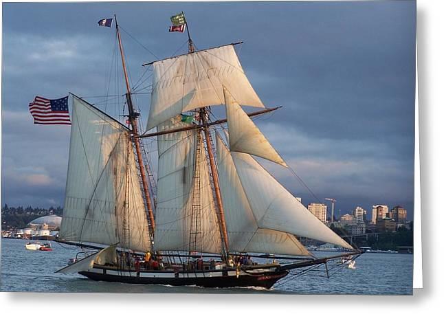 Masts Greeting Cards - Cruising Tacoma Washington Greeting Card by Patti Walden