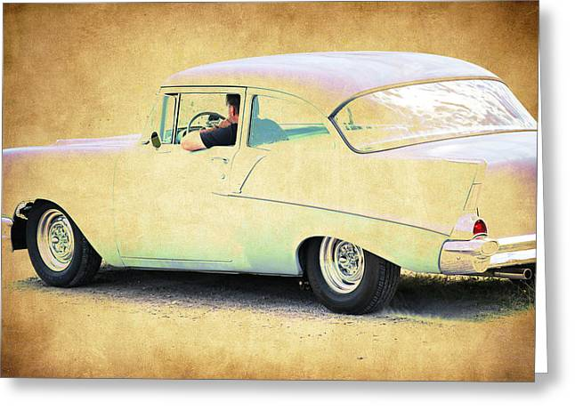 Fleetmaster Greeting Cards - Cruising the 57 Greeting Card by Steve McKinzie
