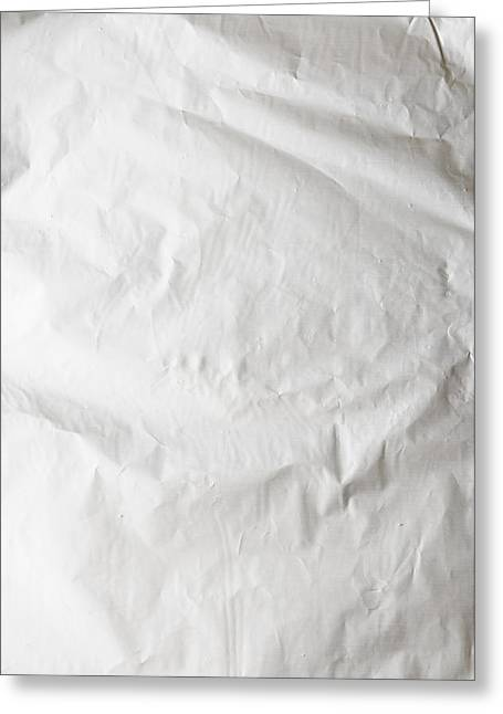 Metallic Sheets Greeting Cards - Crumpled Aluminum Foil Greeting Card by Alain De Maximy