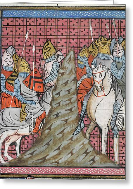 Crusaders Cross A Mountain Greeting Card by British Library