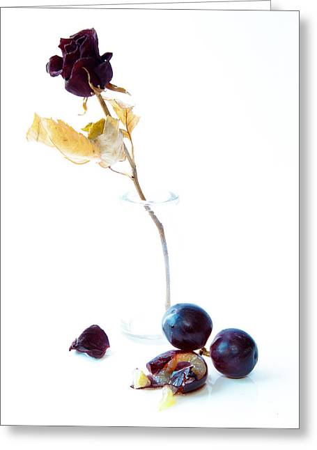 White Grape Greeting Cards - Crushed Greeting Card by Constance Fein Harding