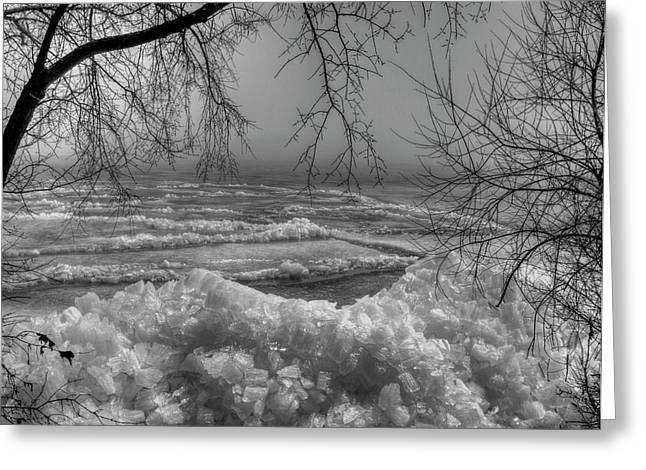 Ice Fog Greeting Cards - Crushed Ice Greeting Card by Thomas Young