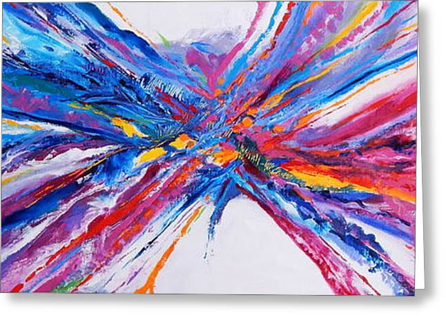 Abstract Expressionist Greeting Cards - Crux Greeting Card by Expressionistar Priscilla-Batzell