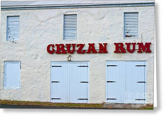 Local Food Greeting Cards - Cruzan Rum Building Greeting Card by Iris Richardson