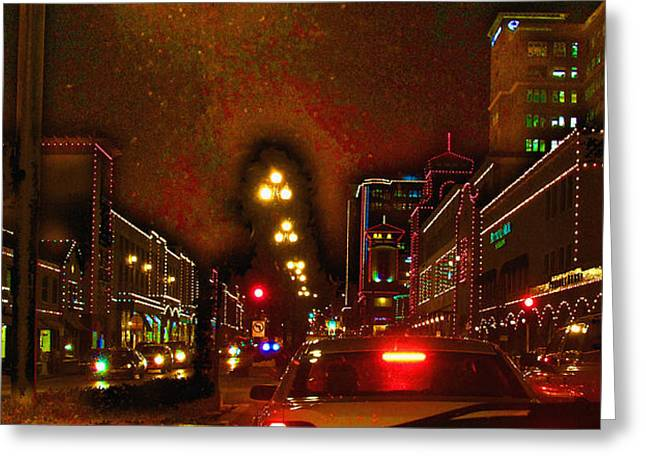 Cruzin View Of The Plaza Greeting Card by Thomas Bomstad