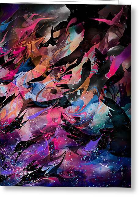 Lightning Landscapes Greeting Cards - Cry of the Birds Greeting Card by Rachel Christine Nowicki
