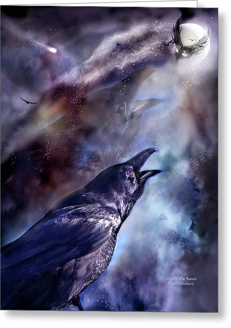Purchase Greeting Cards - Cry Of The Raven Greeting Card by Carol Cavalaris