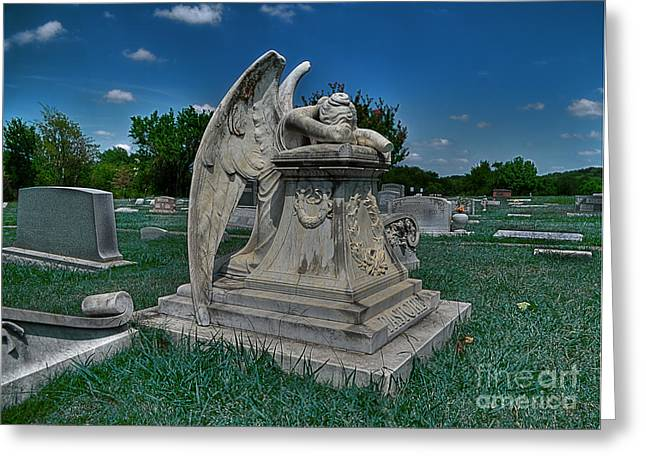 Weeping Greeting Cards - Crying Angel 2 Greeting Card by Hilton Barlow