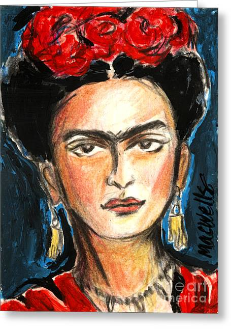 Unibrow Greeting Cards - Crying on the Inside Greeting Card by Mary C Wells