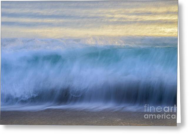 Ocean Art. Beach Decor Greeting Cards - Crying Waves Greeting Card by Amanda Sinco