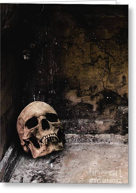 Hidden Corners Greeting Cards - Crypt Greeting Card by Margie Hurwich