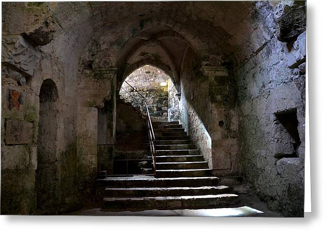 Marciano Greeting Cards - Crypt of the martyr San Marciano in SYracuse Greeting Card by RicardMN Photography