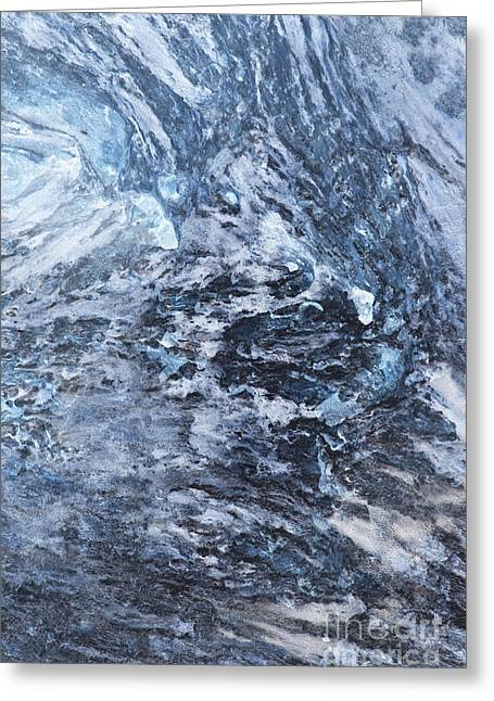 Industrial Background Greeting Cards - Crystal and Blue Persuasions Abstract IV Greeting Card by Lee Craig