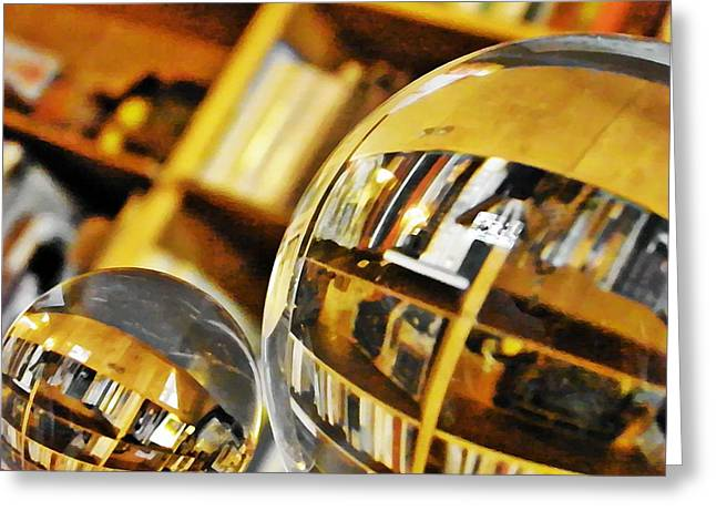 Home Office Furniture Greeting Cards - Crystal Ball Project 99 Greeting Card by Sarah Loft