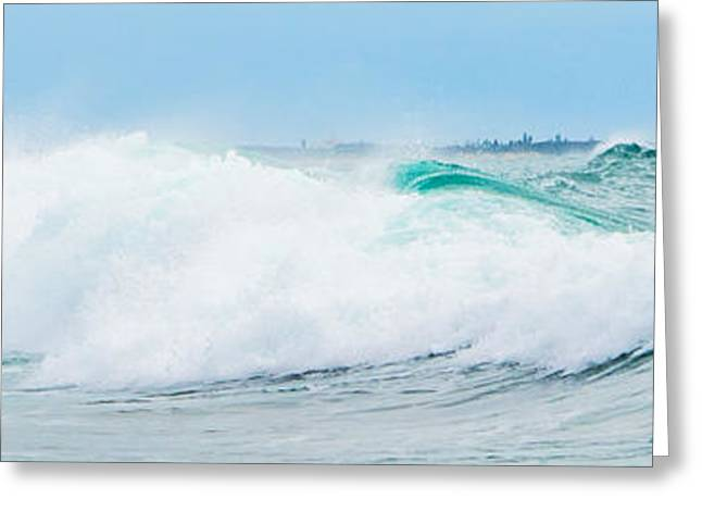 Surfer Art Greeting Cards - Crystal Blue Waves Greeting Card by Parker Cunningham