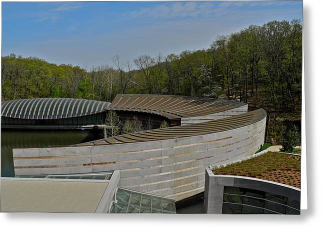 Polish American Art Greeting Cards - Crystal Bridges Museum of American Art Buildings Greeting Card by Kirsten Giving