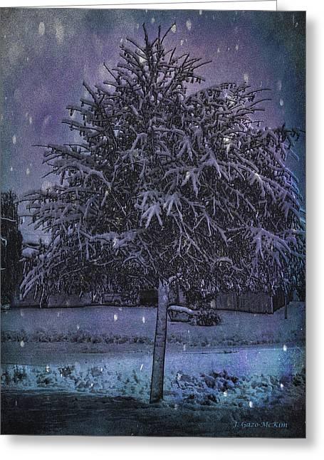 Buyart Greeting Cards - Crystal Casting Greeting Card by Jo-Anne Gazo-McKim