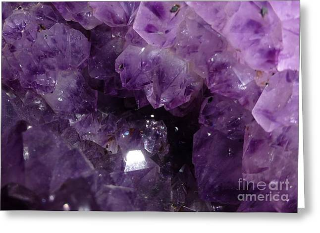 Birthstone Greeting Cards - Crystal Cave Greeting Card by Barbie Corbett-Newmin