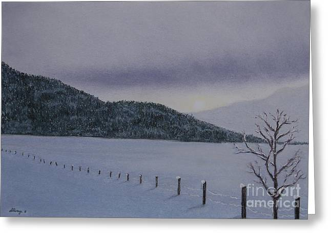British Columbia Pastels Greeting Cards - Crystal Chill Greeting Card by Stanza Widen
