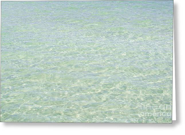 Coloured Greeting Cards - Crystal Clear Atlantic Ocean 2 Key West Greeting Card by Ian Monk