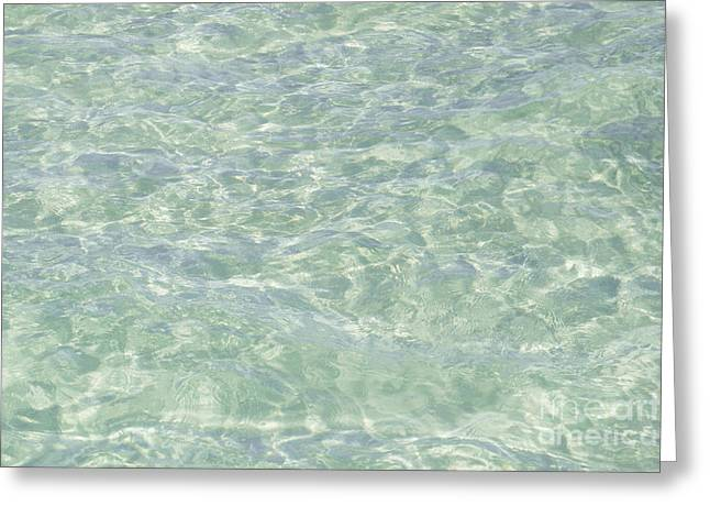 Crystal Clear Atlantic Ocean Key West Greeting Card by Ian Monk