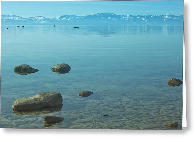 Kim Photographs Greeting Cards - Crystal Clear Lake Tahoe Greeting Card by Kim Hojnacki