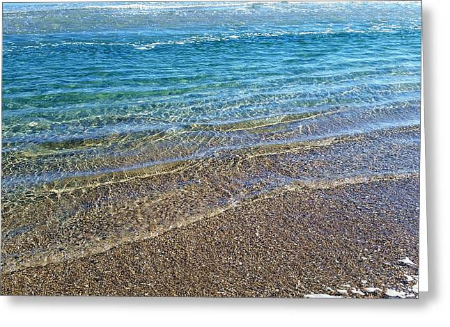 Wrightsville Beach Greeting Cards - Crystal Clear Shoreline Greeting Card by Karen Rhodes