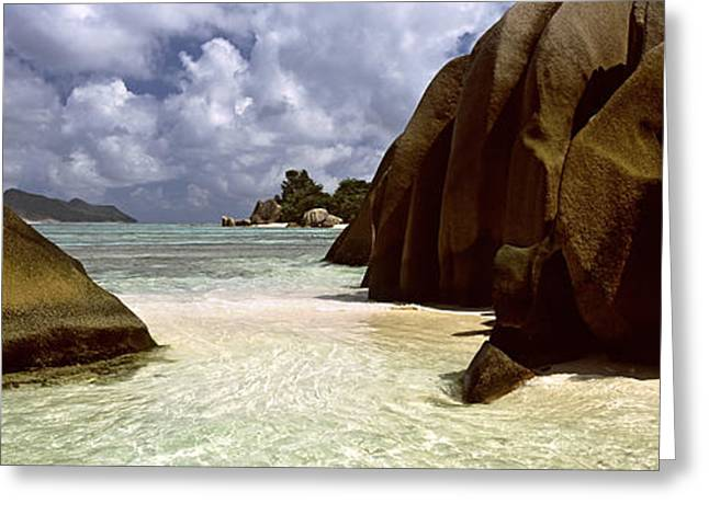 Panoramic Ocean Greeting Cards - Crystal Clear Waters And Large Granite Greeting Card by Panoramic Images