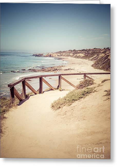 Sea Shore Greeting Cards - Crystal Cove Overlook Picture Greeting Card by Paul Velgos